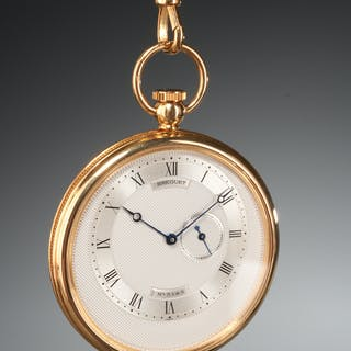 Breguet 18k gold pocket watch #5143