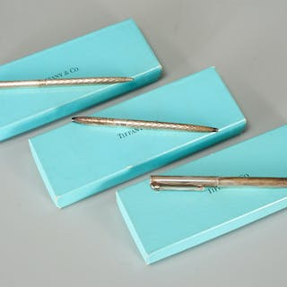 Group of Tiffany & Co. sterling pens