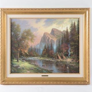 """Thomas Kinkade. """"The Mountains Declare His Glory"""""""