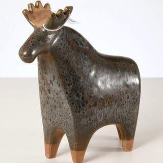 Gustavsberg glazed ceramic moose