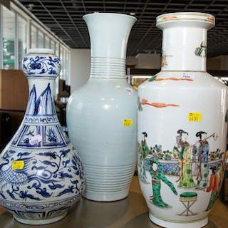 Three Decorative Chinese Porcelain Vases
