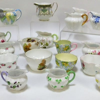 29PC Shelley Floral Creamer Sugar Bowl Group