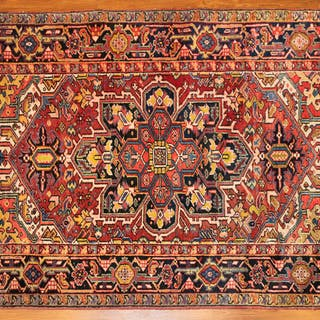 Semi-Antique Heriz Rug, Persia, 4.8  x 6.7