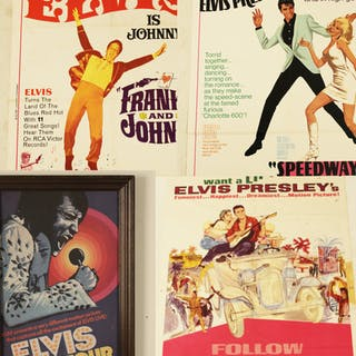 4 ELVIS PRESLEY MOVIE POSTERS