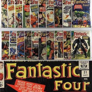 20PC Marvel Comics Fantastic Four #20-#64 Group