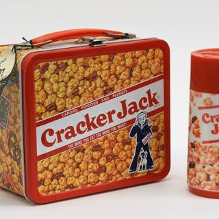 Aladdin Cracker Jack Tin Lunch Box & Thermo Bottle