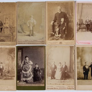 CIRCUS / SIDESHOW PERFORMER CABINET CARDS, LOT OF 27