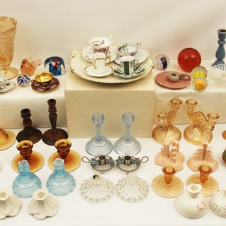 60 PC. MISC. LOT OF GLASS AND CHINA