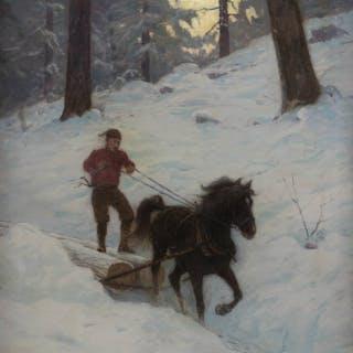 Birge Harrison NA (1854-1929 Woodstock, NY)