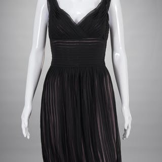 Richard Tyler Couture pleated silk evening dress