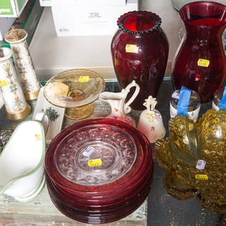 Assorted Items, Including Dishware and Other