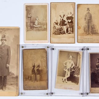 CIRCUS / SIDESHOW PERFORMER PHOTOGRAPHIC IMAGES, LOT OF 23