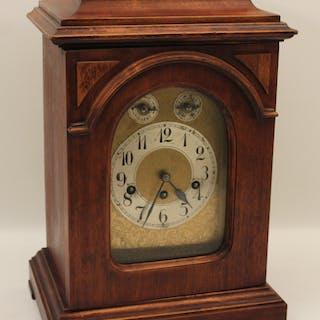 GERMAN MAHOGANY BRACKET CLOCK