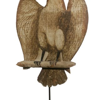 FOLK ART DOUBLE SIDED PAINTED EAGLE
