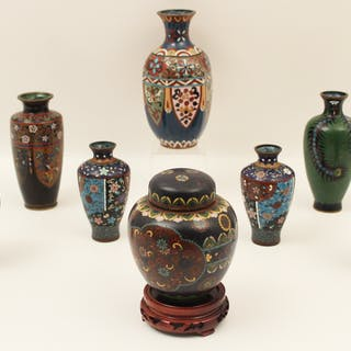 8 PC. LOT OF CLOISONNE