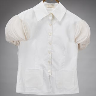 Valentino ladies couture white blouse