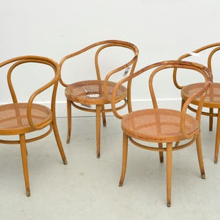 (4) Stendig Le Corbusier bentwood armchairs