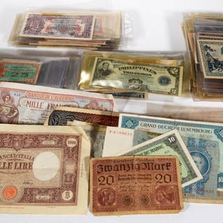 ASSORTED FOREIGN AND US MILITARY CURRENCY, UNCOUNTED LOT