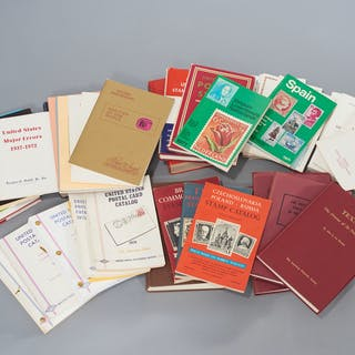 BOOKS: Large group stamp collecting reference