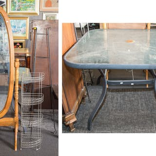 Assorted Items, Including Patio Table