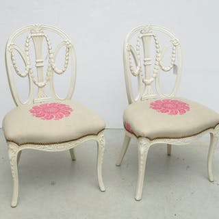 Pair Decorator Neoclassic style side chairs