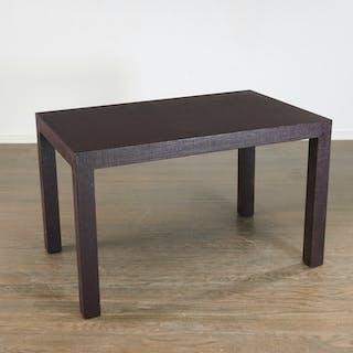Peter Marino custom linen wrapped writing table