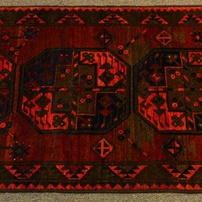 Semi Antique Afghan Turkoman Prayer carpet | Barnebys