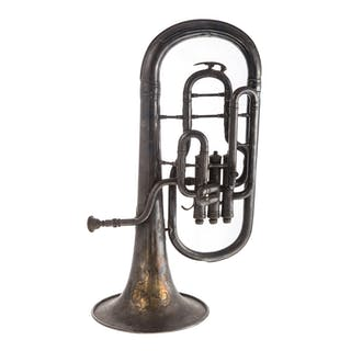 J. W. York & Sons Silver Plate Euphonium