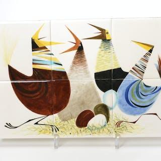 Leonard Jossel, modernist glazed ceramic tile art