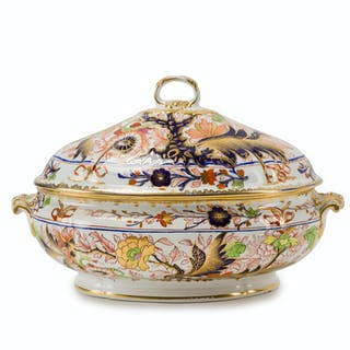 A Royal Crown Derby Japanesque lidded tureen