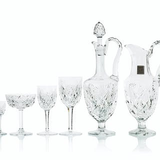 "A set of Saint Louis ""Chantilly"" stemware"