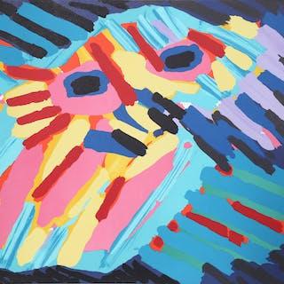Karel Appel, Big Head Coming, Lithograph - Karel Appel