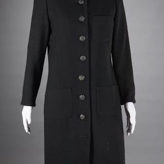 Vintage Yves Saint Laurent black coat dress