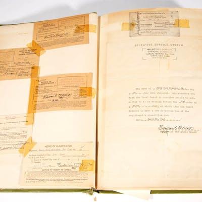 WORLD WAR II / WWII ERA MILITARY POLICE SCRAP BOOK