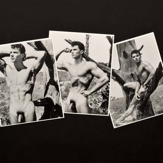 3 Bruce Bellas Nude Male Physique Photos - Bruce Bellas (1909-1974)