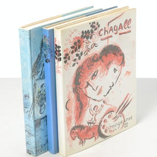 BOOKS: (3) Vols, Lithographs of Chagall III, IV, V