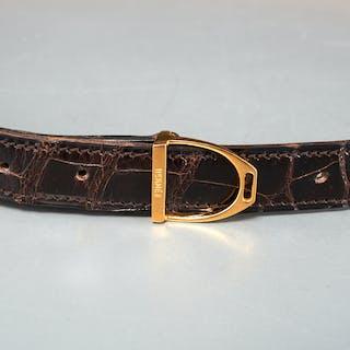 Hermes 24mm stirrup buckle belt