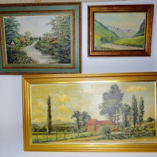 3 MISC. FRENCH OIL PAINTINGS