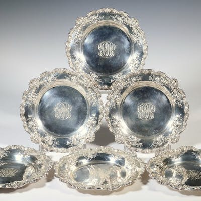 (6) THEODORE B. STARR STERLING PLATES