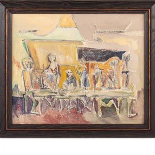 Van Woodson. Men Seated at a Table