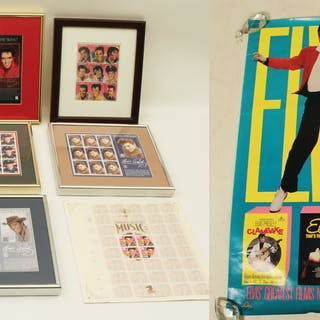 ELVIS PRESLEY STAMP COLLECTION AND POSTERS