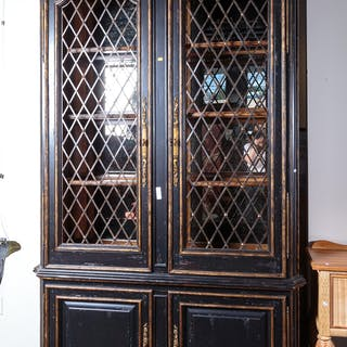 French Provincial Style Painted Display Cabinet