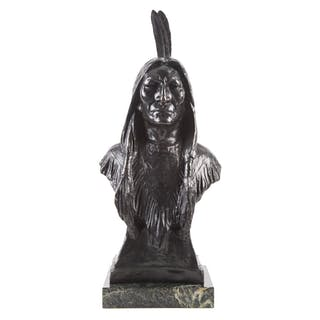 Max Bachmann. Indian Bronze Bust