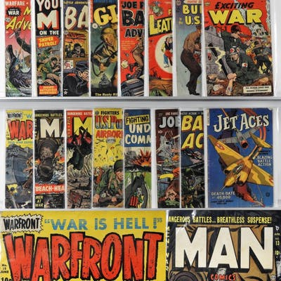 16PC Golden Age Military War Comics Group