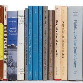 CIVIL WAR SMALL PRESS CONFEDERATE MEMOIR / BIOGRAPHY VOLUMES, LOT OF 24