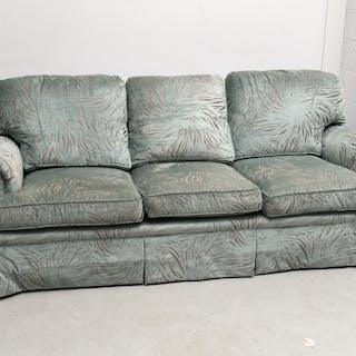 Edward Ferrell teal upholstered sofa
