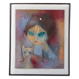Ruth B. Levin. Woman with Cat