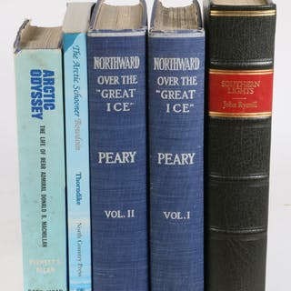 (4) TITLES IN (5 VOLS) ARCTIC EXPLORATION, ONE WITH MACMILLAN PHOTO