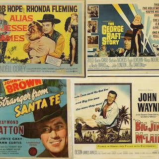 4 CLASSIC FILM POSTERS