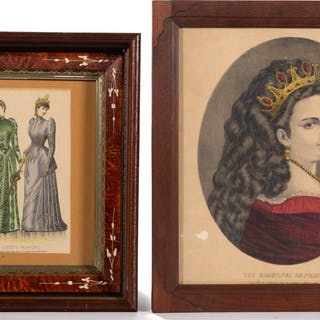 ASSORTED LADIES PRINTS, LOT OF FOUR